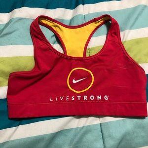 Nike livestrong sports bra- medium